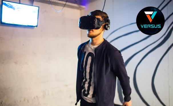 Погружение в виртуальную реальность для компании до 4 человек в клубе виртуальной реальности Versus VR. Скидка до 55%