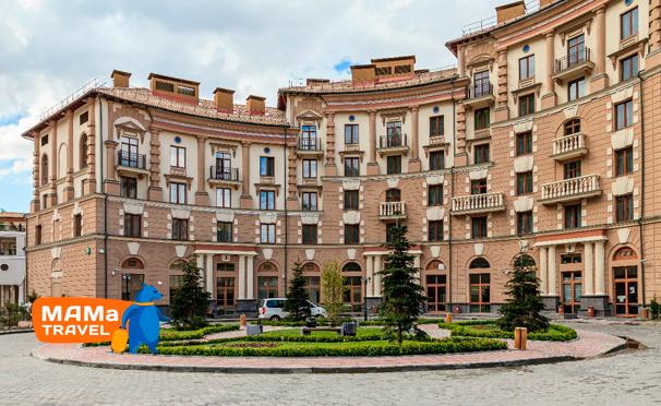 Проживание в апарт-отеле «Горки Город» в Красной Поляне от туристической компании Mama Travel. Скидка 50%