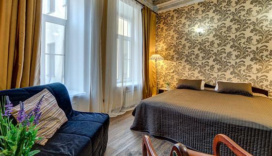 Размещение в двухместных номерах в отеле «Амбитус» в центре Санкт-Петербурга. Скидка 50%