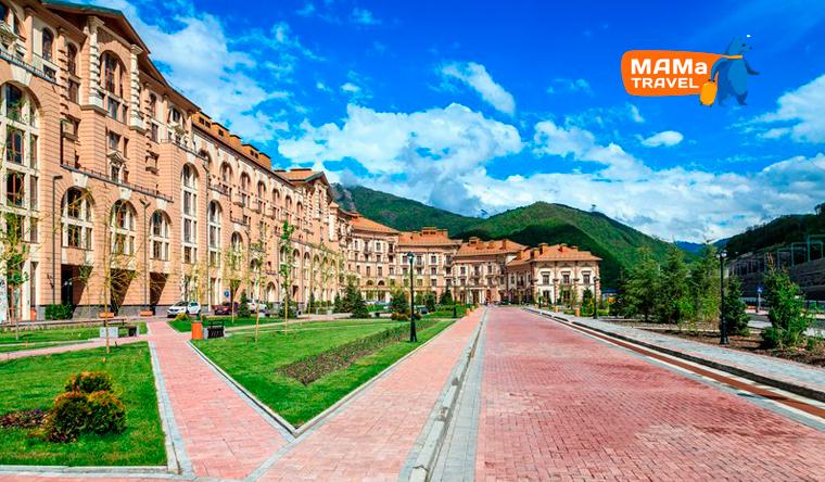Скидка 50% на проживание для компании до 5 человек в апарт-отеле «Горки Город» в Красной Поляне от туристической компании Mama Travel
