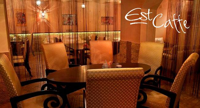 Скидка 50% на любые блюда и напитки в баре Est-Caffe: фахитос с телятиной, утиная грудка под брусничным соусом, традиционный восточный плов, стейк из семги и многое другое!