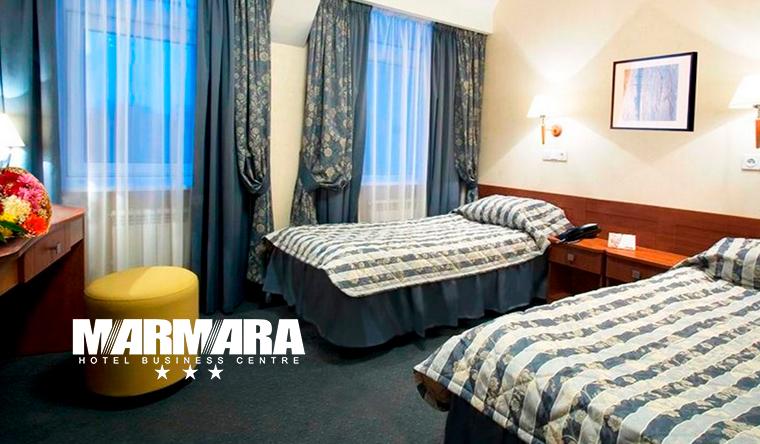 Отдых для двоих в бизнес-отеле Marmara в центре Санкт-Петербурга: завтраки, фитнес-центр, бассейн, сауна и не только! Скидка до 38%