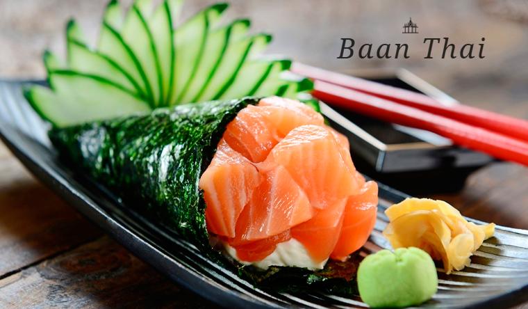 Большой выбор вкусных блюд и напитков в тайском ресторане Baan Thai. Скидка 50%
