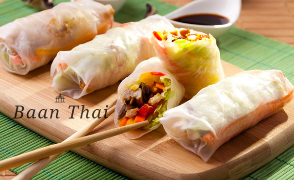 Блюда и напитки в тайском ресторане Baan Thai со скидкой 50%
